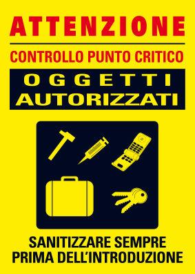 Cartellone oggetti autorizzati