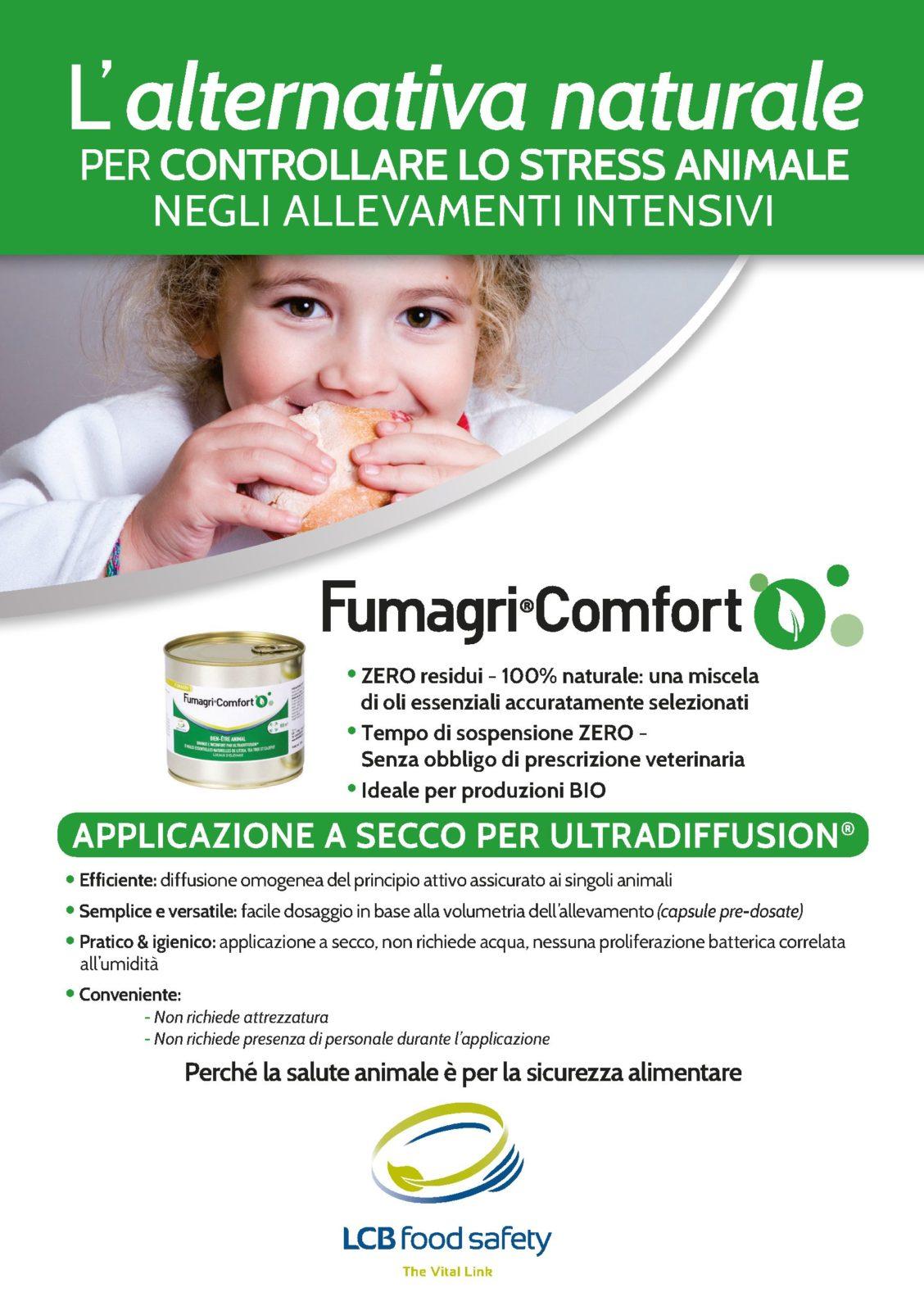 Fumagri Comfort: l'alternativa naturale per controllare lo stress animale negli allevamenti intensivi. Migliora la produttività, tutela la qualità