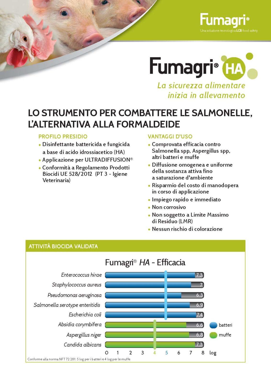 Fumagri HA: lo strumento per combattere le salmonelle, l'alternativa alla formaldeide.