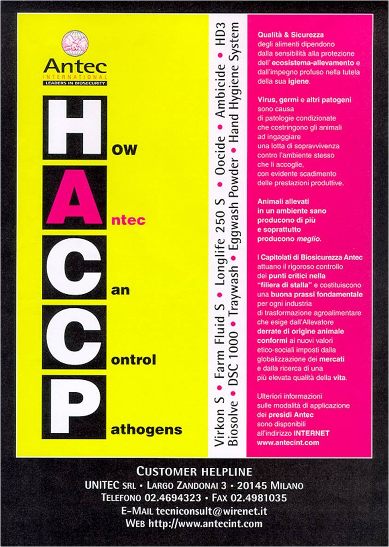 HACCP: how Antec can control pathogens
