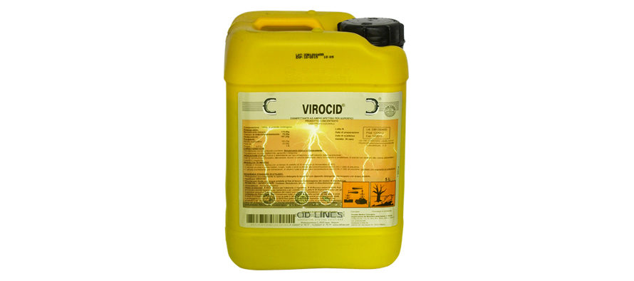 Virocid – PMC 19726</br> <span style='color:#eb8212; font-size:18px'>Disinfettante ad ampio spettro virucida, biocida e fungicida </span>