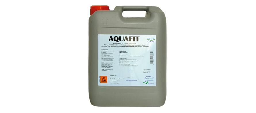 Aquafit</br> <span style='color:#eb8212; font-size:18px'>Biossidante ad azione scavenger per la rimozione ed il controllo del biofilm in impianti idrici </span>