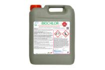 Biochlor – PMC 19916</br> <span style='color:#eb8212; font-size:18px'>Biossidante titolato in cloro libero attivo pronto all'uso per impianti idrici di allevamento </span>