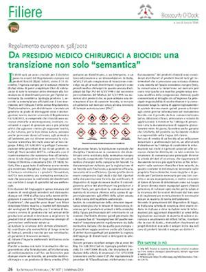 """Da presidio medico chirurgici a biocidi: una transizione non solo """"semantica"""""""