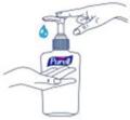Disinfezione igienica delle mani per frizione - STEP 1